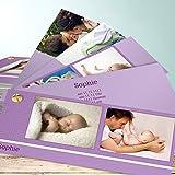 Babykarte, Mamanucas 200 Karten, Kartenfächer 210x80 inkl. weiße Umschläge, Lila