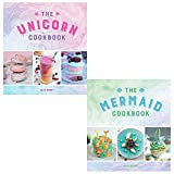 Unicorn cookbook, mermaid cookbook 2 books collection set by alix carey
