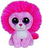 TY 36132 - Fluffy - Löwe mit Glitzeraugen, Beanie Boo's, Valentine Special, limitiert, 15 cm, pink