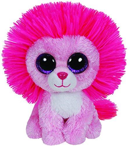 """Beanie Boo Lion - Fluffy - Pink - 15cm 6"""""""
