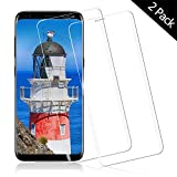 OUJD Protector Pantalla para Samsung Galaxy S8 Plus ( Paquete de 2 ) - Samsung Galaxy S8 Plus, Cristal Vidrio Templado Premium