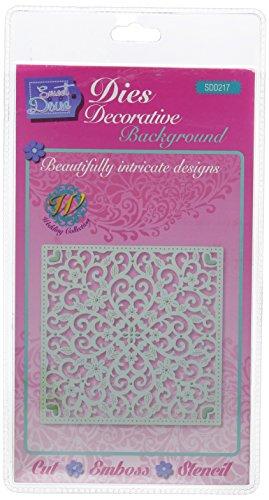 Sweet Dixie–Plantilla Decorativa, diseño de celosía, Color Gri