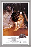Star Wars Poster Style 'A' - American (66x96,5 cm) gerahmt in: Rahmen silber