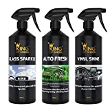 King of Sheen Waterless 11 Piece Car Cleaning Kit, to Clean Your Entire Vehicle to a showroom Standard. Ideal Car Gift Set for the Car Enthusiast.
