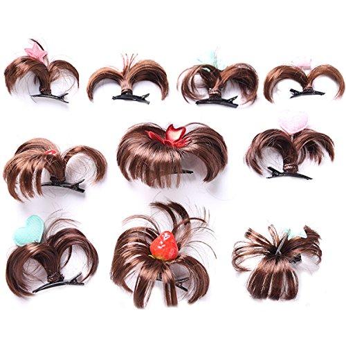 nder Mädchen Perücke Clips Set Kleinkind Baby Kinder Haarnadeln Haarspangen Zufälliger Stil (Perücken Für Kleinkinder)