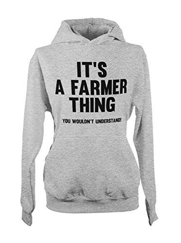 It's A Farmer Thing You Wouldn't Understand Amusant Femme Capuche Sweatshirt Gris