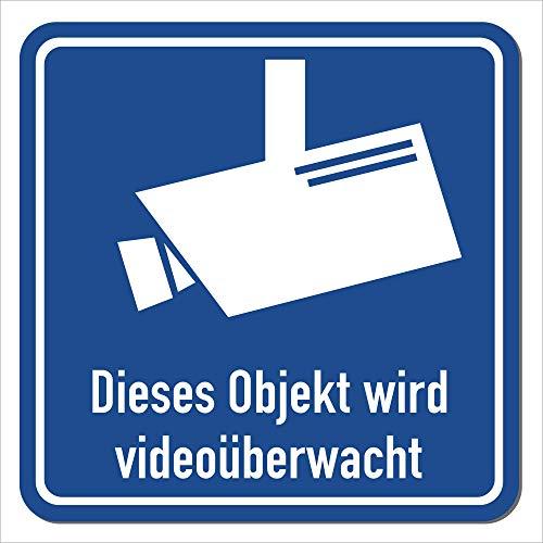 Magnetschild Objekt Wird videoüberwacht   Schild magnetisch mit Piktogramm nach DIN 33450   Wetterfest - Geeignet für Innen/Außen (25 x 25 cm) (Tür-zeichen Magnetische)