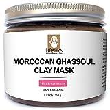 Elbahya marocchino Ghassoul Argilla Maschera con Rosa. Moroccan (Rhassoul) Clay Mask. Organic poro profondo pulizia maschera per capelli e il viso. E 'disponibile in pacchetto regalo. 250g pomice incluso gratuitamente