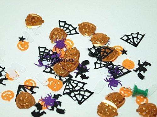 (250 Stück Geister Konfetti bunt Mix Streudeko für Anlässe wie Halloween, Fasching etc.)