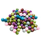 TOAOB Opaque Glass Beads 6mm round Colour Mix Pack of 500 pieces