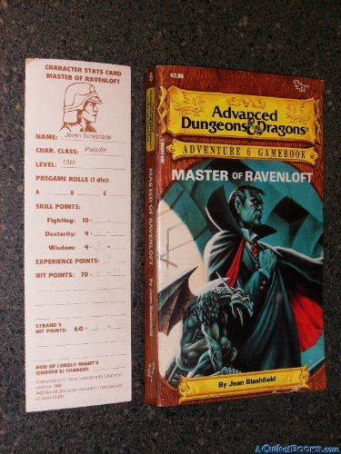 Master of Ravenloft (Advanced Dungeons & Dragons Adventure Gamebook) by Jean F. Blashfield (1986-02-01) par Jean F. Blashfield