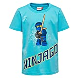 Lego Wear Jungen T-Shirt Lego Ninjago Thomas 301, Türkis (Light Turquise 733), 104