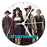 Shameless William H Macy Emmy Rossum Jeremy Allen White CD Clock 12cm