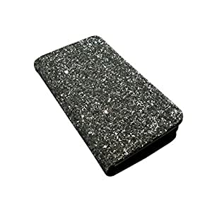 i-KitPit Sparkling PU Leather Wallet Flip Case For iPhone 4 / 4S (SILVER WHITE)