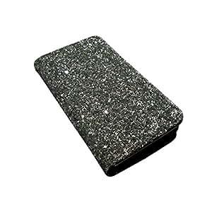 i-KitPit Sparkling PU Leather Wallet Flip Case For HTC Explorer A310 (SILVER WHITE)