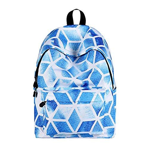 WAWJ Schulranzen Beiläufig Schulrucksack Mädchen Teenager Galaxy Print Damen Backpack Rucksäcke für die schule