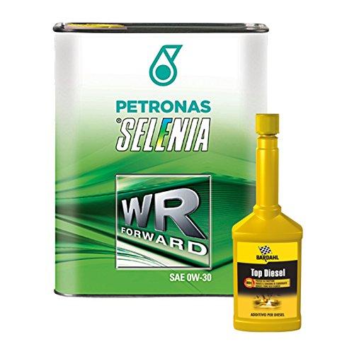 Kit 4 litri olio auto Selenia Forward 0W30 + additivo pulizia Bardahl Top Diesel