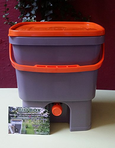 Composteur de cuisine BIOBOX 20L, livré avec 1/2kg d activateur bio ( BIO MW Formule concentrée +) OFFERT - compost sans odeurs, sans vers de terre...