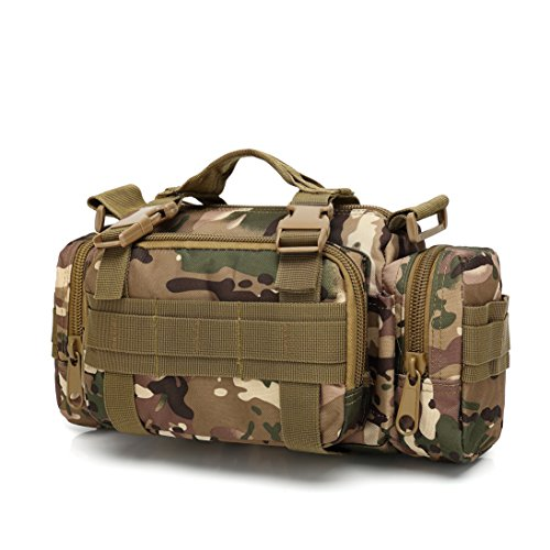 Utility-rucksack (Fami Utility 3P Military Tactical Duffle Taille Taschen Tactical Molle Assault Rucksack Multifunktions Taschen Klein EDC für Camping Wandern Trekking Fahren, Camo-4)