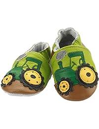 JIANG Chaussures Cuir Souple Premiers Pas Chaussures Bébé en Cuir Souple Bébé Fille Chaussures Bébé Garçon