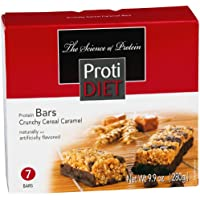 Protidiet Crunchy Cereal Caramel Chocolate Flavour Protein Bars (box of seven)