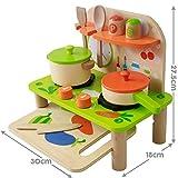 Cucina in legno Set - portatile, 11 pezzi compreso utensili,...