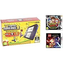 Consola Nintendo 2DS Azul + New Super Mario Bros 2 + Yo-Kai Watch 2: Fantasqueletos + LEGO Star Wars: El Despertar De La Fuerza