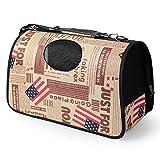 LQQAZY Oxford Stoff Haustier Rucksack Hund Sling Umhängetasche aus Tragbaren Tasche Multi-Muster Haustier Tasche,E-L