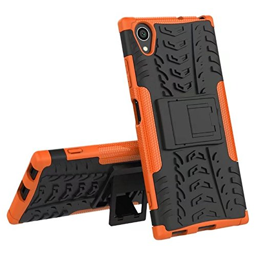 YHUISEN Sony XA1 Plus case, Hyun Muster Dual Layer Hybrid Armor Ständer 2 in 1 stoßfestem Case Cover für Sony Xperia XA1 Plus (5,5 Zoll) ( Color : Blue ) Orange