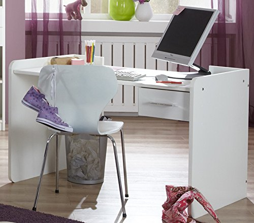 Schreibtisch »MARRY« in alpinweiß - Strasskristall