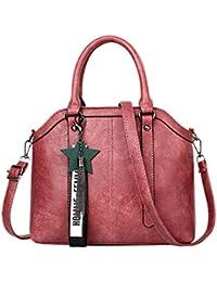 07a7cd4b6a45b Baymate PU Leder Henkeltaschen Vintage Tasche Handtasche Elegant Umhängetasche  Damen
