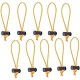 Foto & Tech 10multi-usage à bascule Extra Épais de/Attache de câble et organisateur/fouets/Boucle élastique réglable/encombrement instantané Killer/démêloir/de gestion de câble pour cordon et câble réutilisable (Orange)