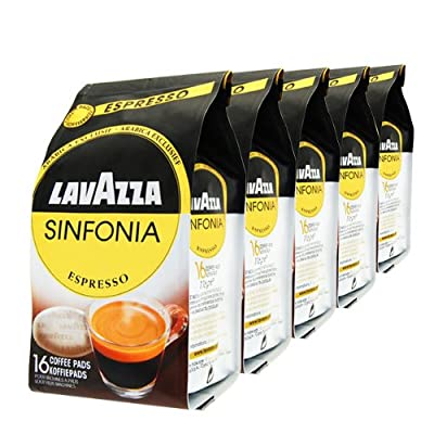 Lavazza Sinfonia Espresso Coffee pods for Senseo, Pack of 5, 5 x 16 Pods ( For Senseo Machines Only) by Luigi Lavazza S.p.A.