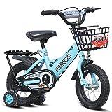 CSPMM Originales Kinder-Kinderfahrrad, Kinderfahrrad, Radsportrad, Blaue Stützräder, Wasserflaschenschutzblech, Freestyle-Kinder für Kinder, Kinderfahrrad (größe : 14 inches)
