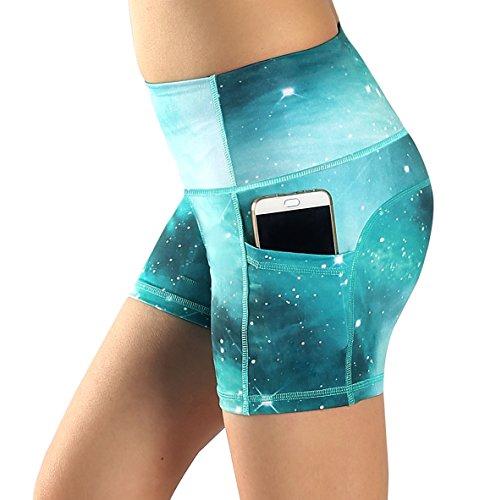 Sugar Pocket Yoga Shorts Women's Basic High Waisted Side Pocket Short