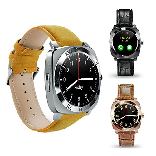 Mobilefit X3 Smart Watch receive and make calls/call a taxi/browse through plenty of apps/track your fitness activity/230mAh of battery life/exercise and work out in style_(GOLDEN) Compatible for Nokia 101  available at amazon for Rs.2999
