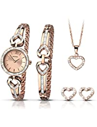 Sekonda 2363G.68 Christmas Set Hearts Earrings Necklace Bangle Watch Set Jewelry