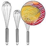 Bambelaa! 3er Set Küchen Schneebesen Rührbesen Ballonschneebesen Küchenutensil zum Mischen