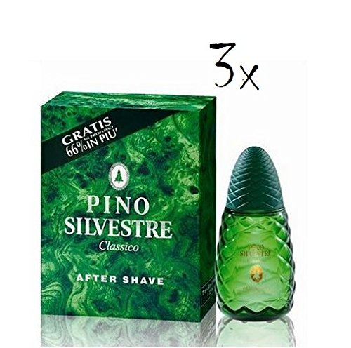 3 x Pino Silvestre Classico Après-Rasage 125 ml Eau classique italien Rasage