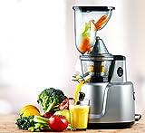 Cookmania! - Slow Juicer BPA frei mit leistungsstarkem Induktionsmotor für frische Säfte, Smoothies, Suppen, Mousses, Babynahrung, Sorbets und Eiscreme