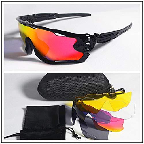 ZKAMUYLC SonnenbrillePolarisierte 5-Objektiv-Radsport-Sonnenbrille UV400-Mountain-Road-Bike-Brille 2019 Sport Reiten Laufbrille MTB Fahrrad Brillen Männer