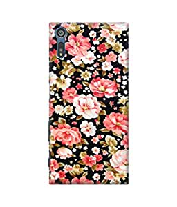 Be Awara Multiple Flowers Designer Mobile Phone Case Back Cover For Sony Xperia XZ