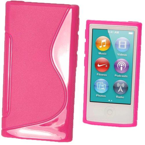 igadgitz Zweiton Rosa Dauerhafte Kristall Gel Tasche TPU Hülle Schutzhülle Etui für Apple iPod Nano 7. Gen Generation 7G 16GB + Displayschutzfolie - 3. 16 Gb Nano Ipod Generation