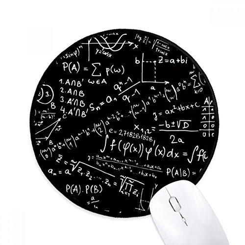 Sucht Formel (DIYthinker Sucht Limits Formeln Wissenschaft Calculus Abbildung Runde Griffige Mousepads Schwarz Titched Kanten Spiel Büro-Geschenk)
