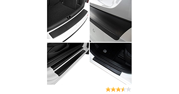 Tuneon Carbon Folienset Für Ladekanten Einstiegsleisten Für Tiguan 2 Ad1 Auto