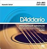 #9: D'Addario EJ16 Phosphor Bronze Acoustic Guitar Strings, Light Gauge (0.012-0.053)