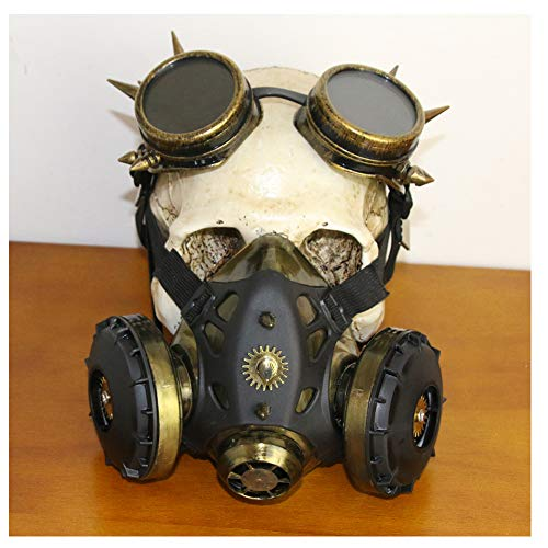 Pest Mittelalterliche Kostüm Doktor - WYQWAN Steampunk Schädel Maske mittelalterliche Pest Maske Doktor Kopf Maske Kostüm Gasmaske Brille Erwachsenen Zubehör Weihnachten und Neujahr Bekleidungszubehör