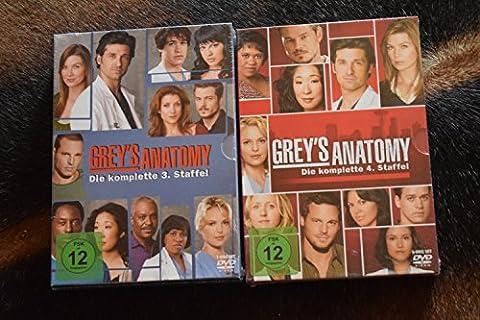 Grey's Anatomy: Die jungen Ärzte - Die komplette 3. + 4. Staffel [12-Disc / 2-Boxen]