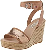 Tommy Jeans Women's Metallic Wedge Sandal Espadrilles, Pink