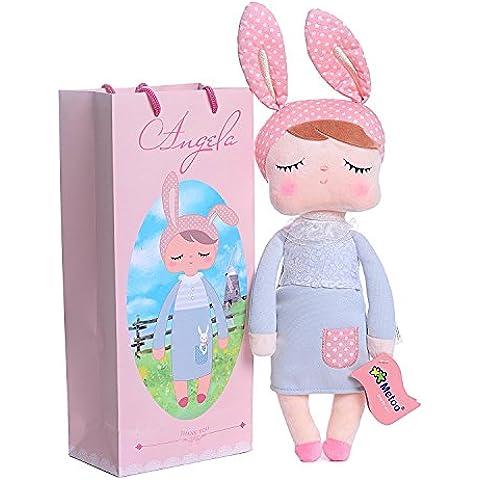 Me Too dormir Angela traje de felpa conejo Niñas juguetes muñecas 12inch + bolsa de regalo